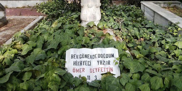 ömer seyfettin'in mezar taşı ile ilgili görsel sonucu
